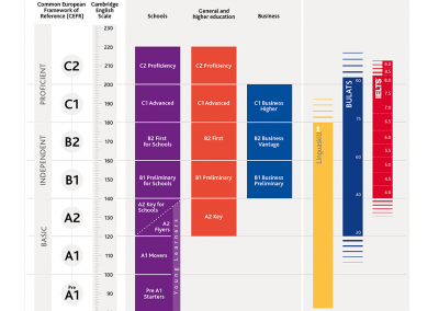 Equivalencia titulación Cambridge y niveles MCER